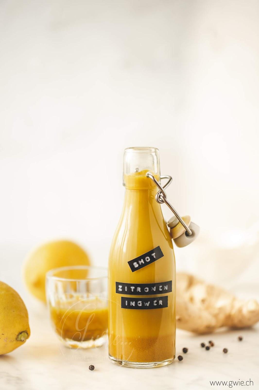 Zitronen-Ingwer Shot fürs Immunsystem