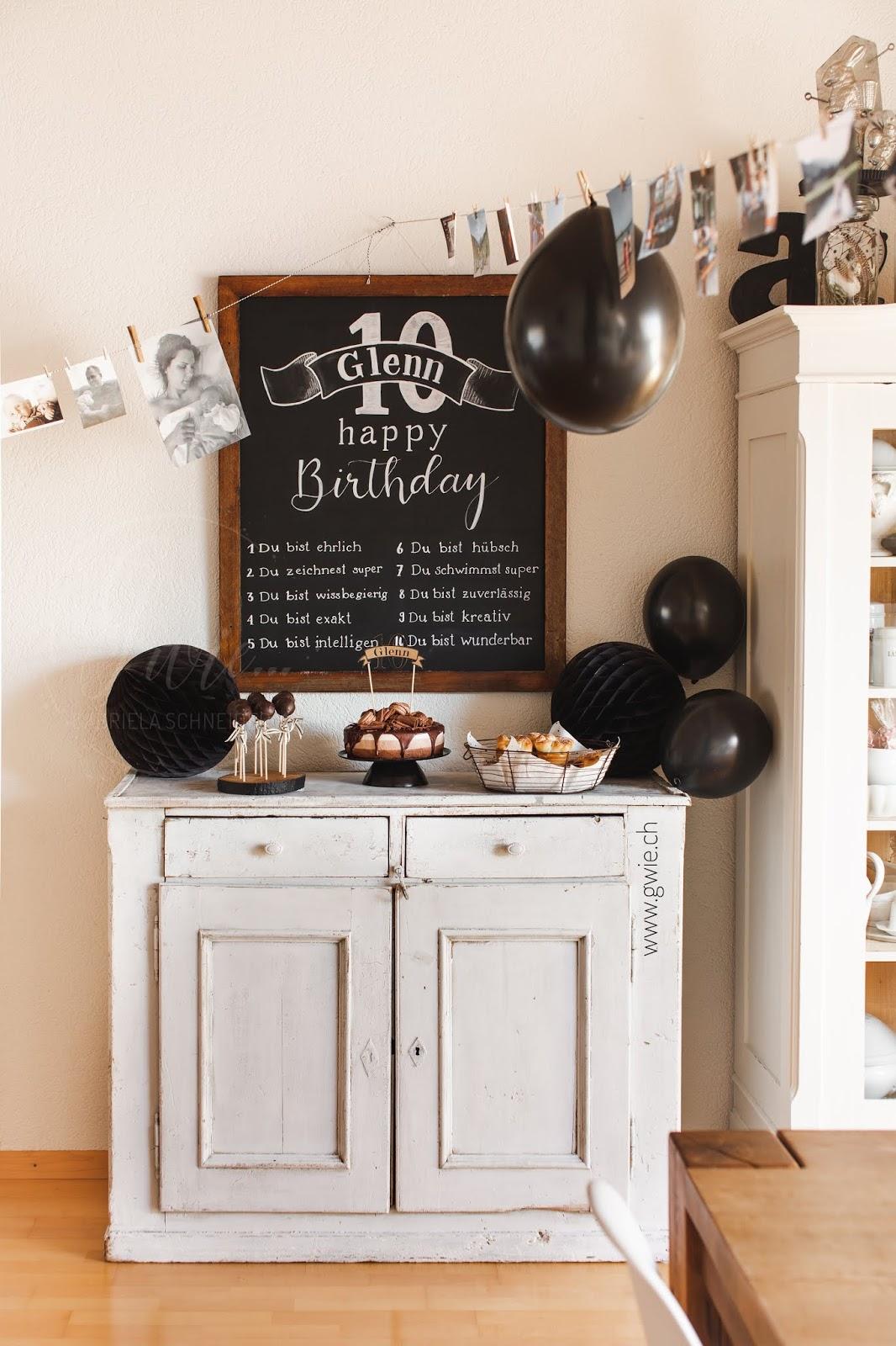 sweet table, 10. geburtstag, 10. geburtstag glenn, glenn, 10 gute eingenschaften, schokoladenquwarktorte, cake pops