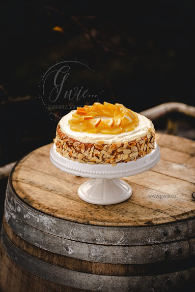 Mandel-Orangenmousse Torte