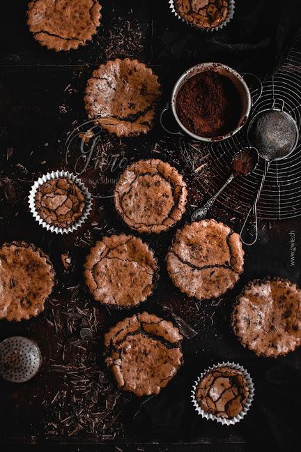Schokoladen-Walnuss-Tartelettes